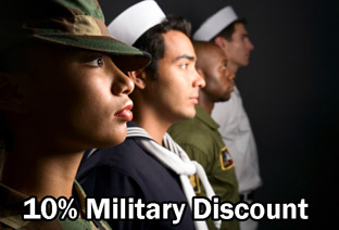 10% Discount to all Clients Serving in the Military